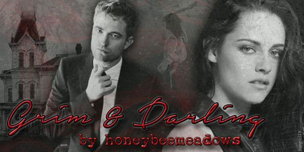 Brand new vamp fic from the glorious and talented Honeybeemeadows... She told FicSisters all about it here:  http://ficsisters.com/2015/08/20/grim-and-darling/