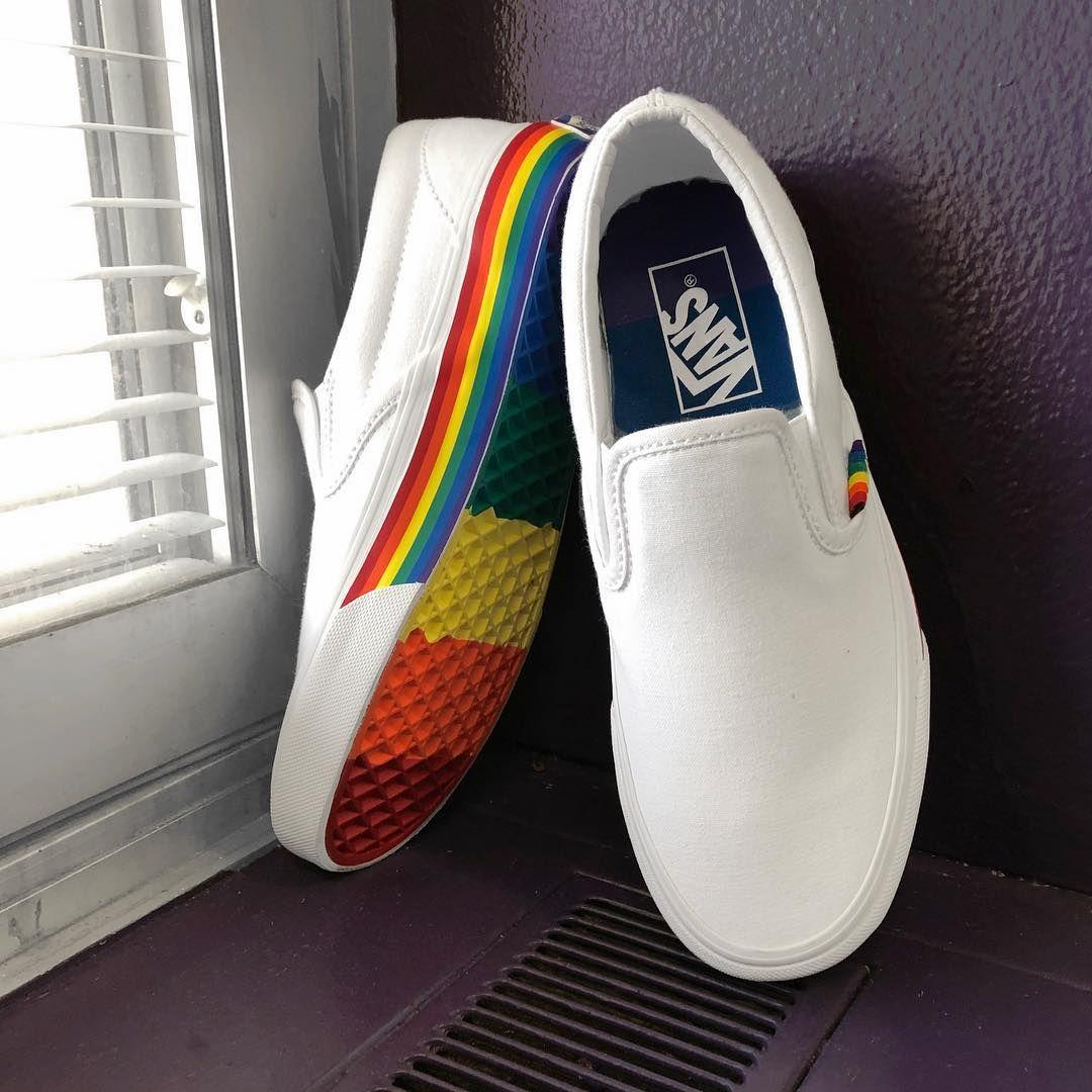 Rainbow vans, Pride shoes, Vans shoes