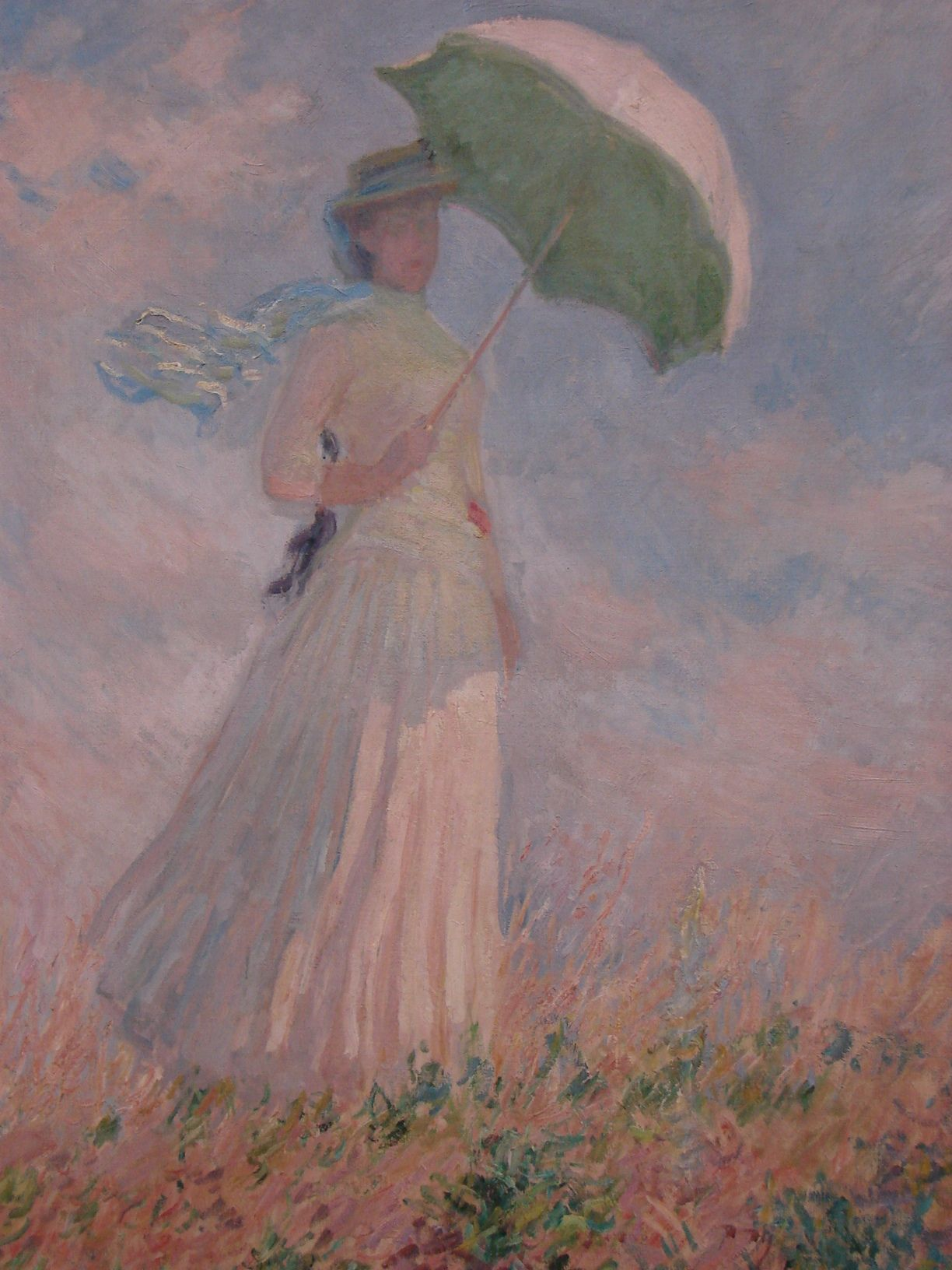 Claude Monet Woman With The Umbrella Turned To The Right Monet
