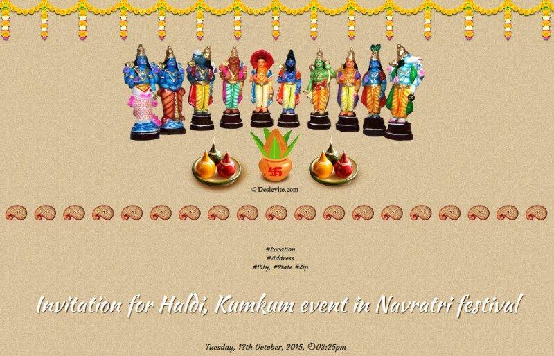 Navaratri Golu Invitation