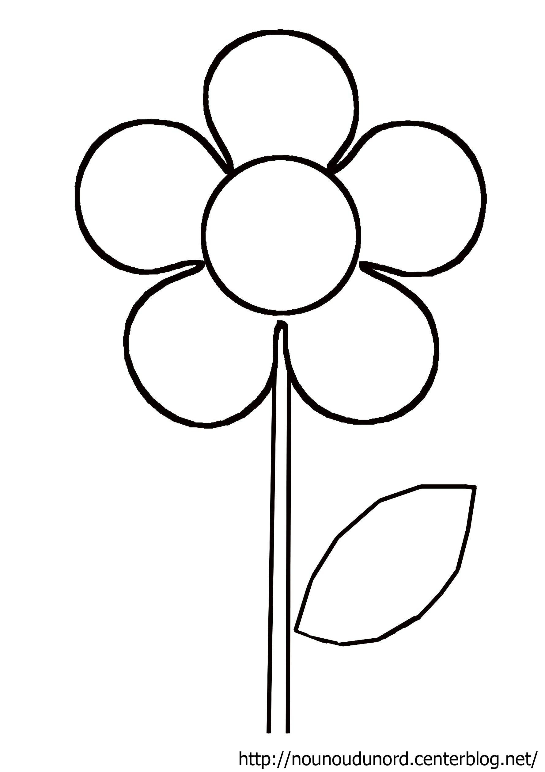 Des Fleurs En Playmais Coloriage Facile Fleur Dessin Facile Et
