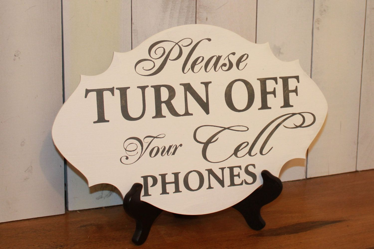 Please Turn Off Your Cell Phones Ceremony Sign Event Sign Cell Phone Sign Turn Off Phone Phone Sign Leather Cell Phone Cases Unplugged Wedding Sign Event Sign Turn off cell phones sign
