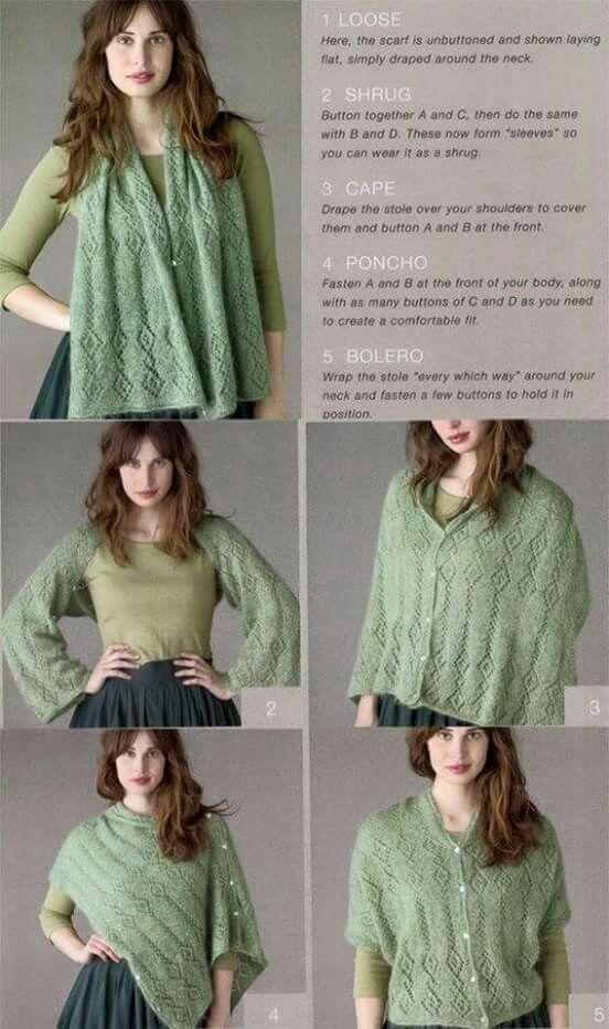 Pin de Florencia Veronica en crochet shrug - poncho | Pinterest ...
