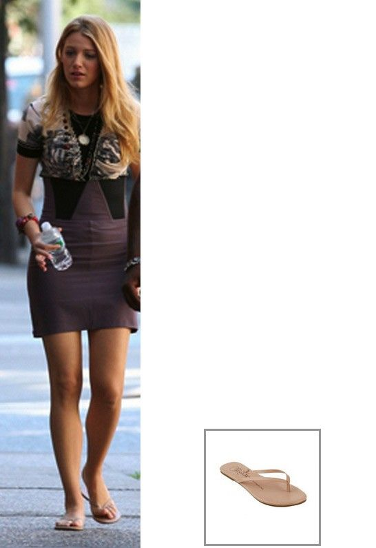 Tkees Foundation Leather Sandal - as seen on Blake Lively