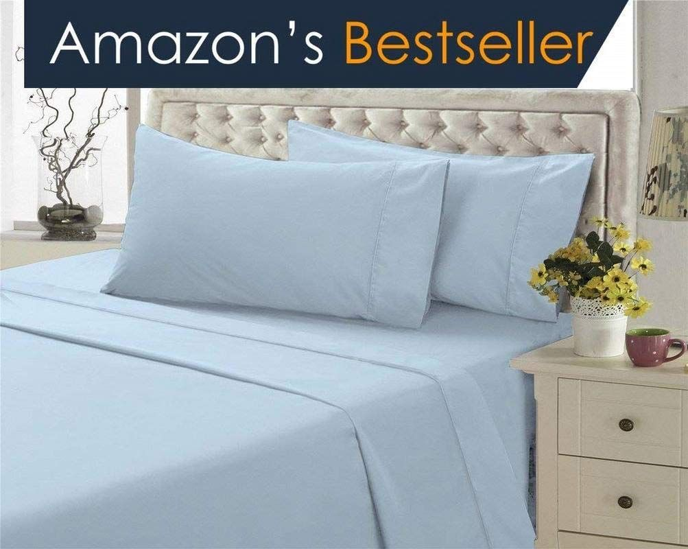 Hotel Luxury 1500 Thread Count 4 Piece Bed Sheet Set Authentic Heavy Egyptian Cotton Fits Mattress 15 To 18 Inch Deep Pocket Bed Sheet Sets Bed Bed Sheets 20 inch deep pocket queen sheets