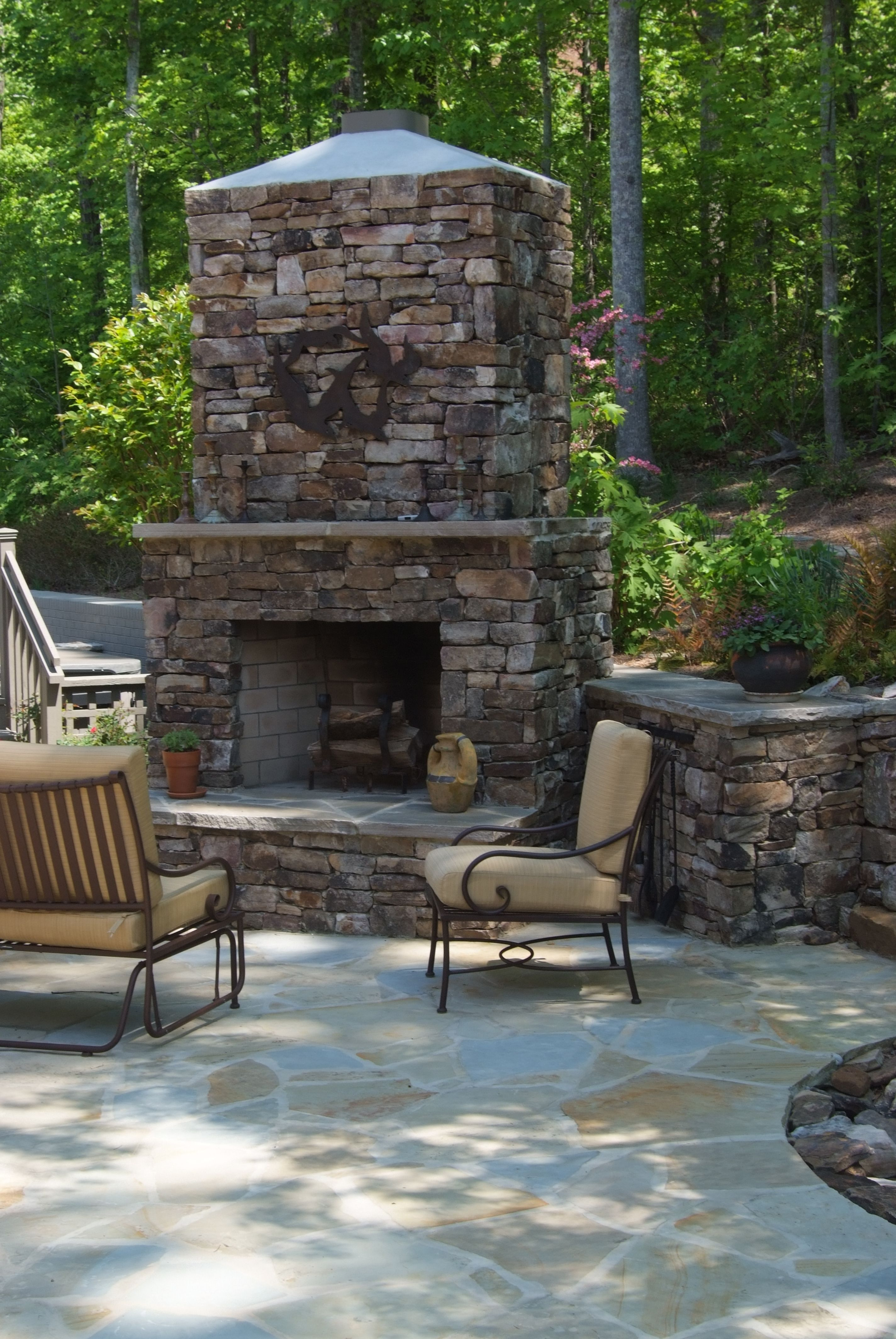fireplaces - masonryscapes | outdoor stone fireplaces, brick patios, outdoor fireplace