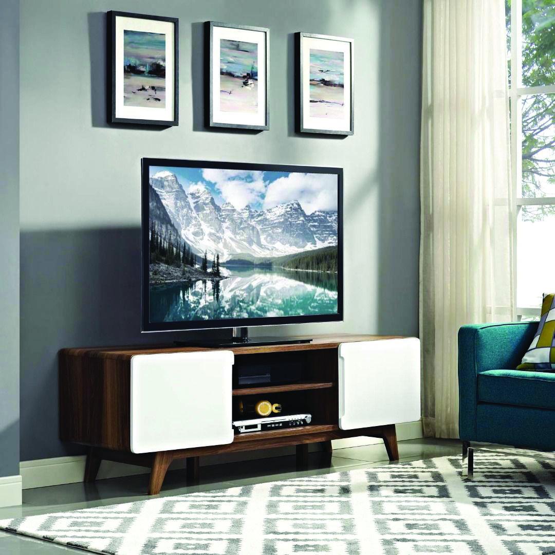 Mid Century Modern Tv Stand Contemporary Living Room Contemporary Decor Living Room Mid Century Modern Wood