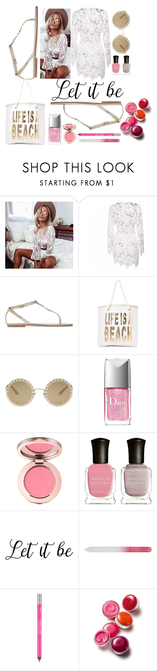 """""""Let it Be !"""" by sylviega ❤ liked on Polyvore featuring Yves Saint Laurent, Nasty Gal, Dolce&Gabbana, Christian Dior, Deborah Lippmann, Urban Decay and Clinique"""