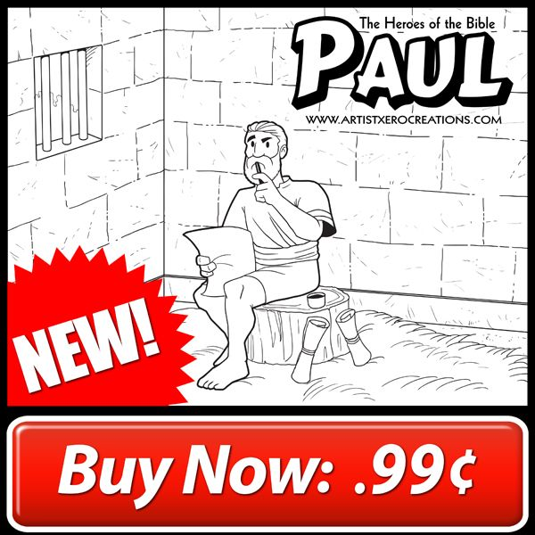 The Heroes Of Bible Coloring Page Paul 1