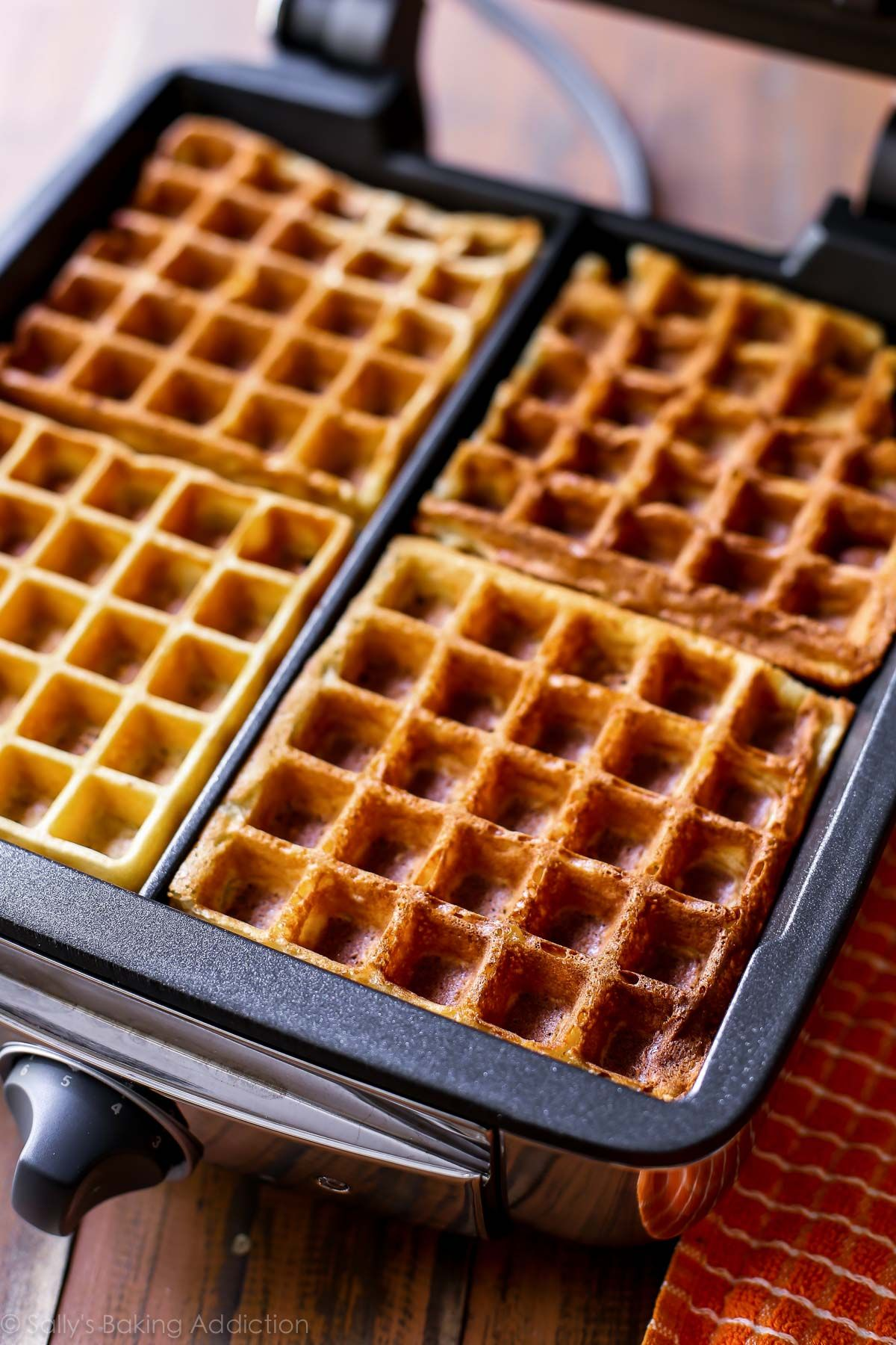 My Favorite Buttermilk Waffles Are Delightfully Crisp On The Outside And Light As Air On The Inside Buttermilk Waffles Waffle Recipes Buttermilk Waffles Recipe
