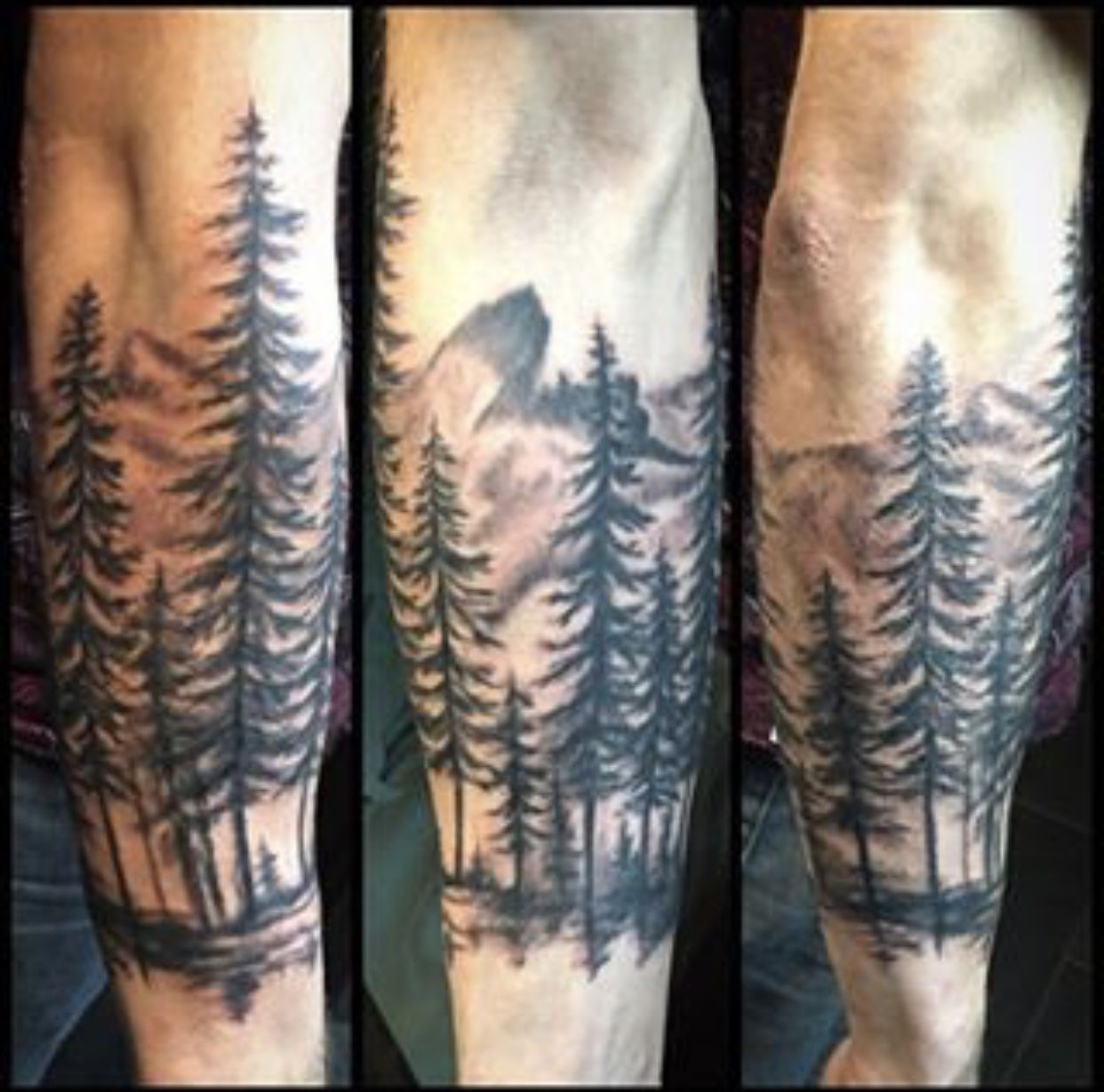 Pin by Thomas on Tattoos Mountain sleeve tattoo, Tree