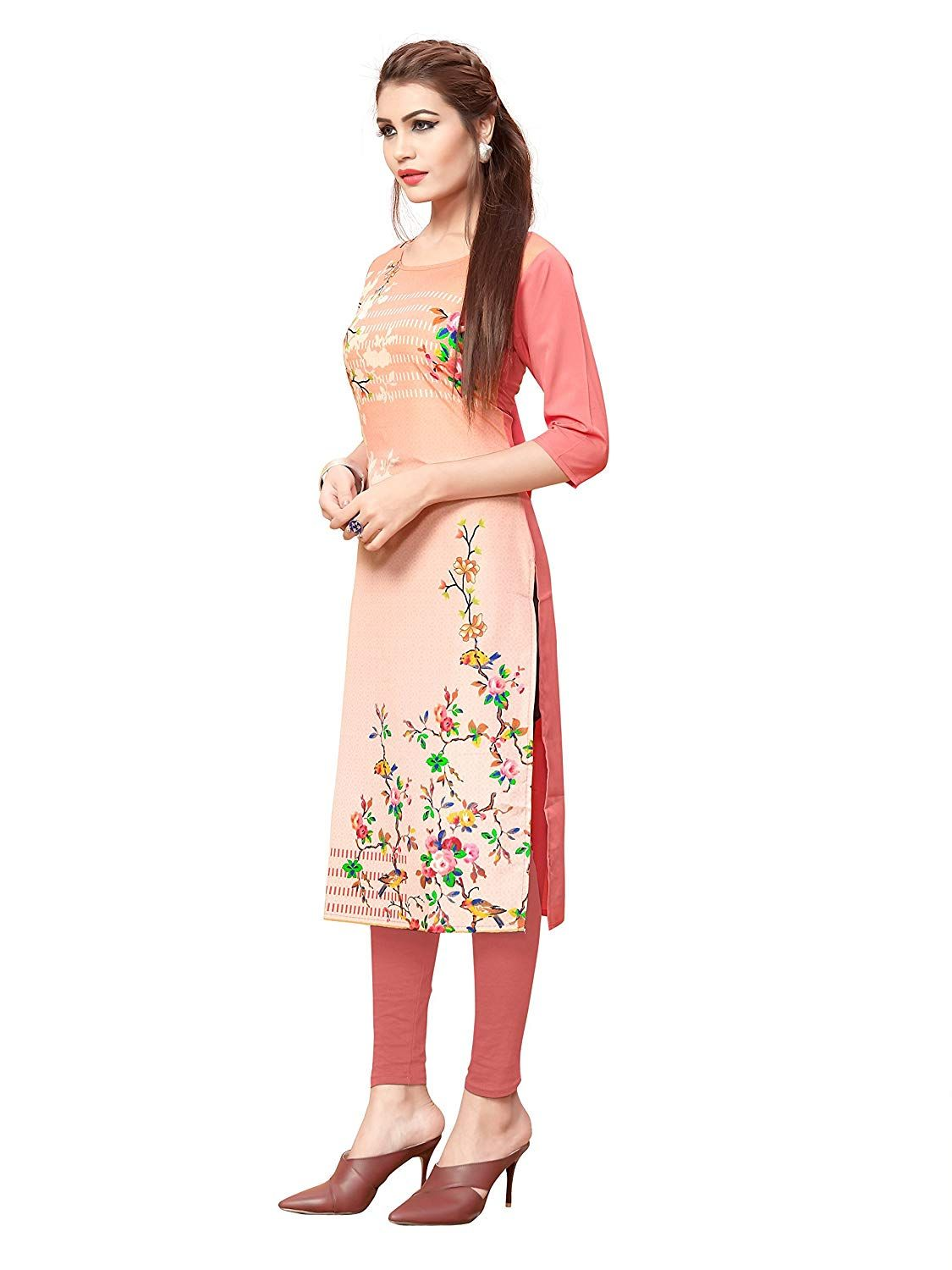 e67c368f10 Premium Quality Superb Self Designer Kurti. Material : American Crepe. Kurti  Length : 44, SIZE : This Product Chest Size :- S=36(inch), M=38(inch), ...