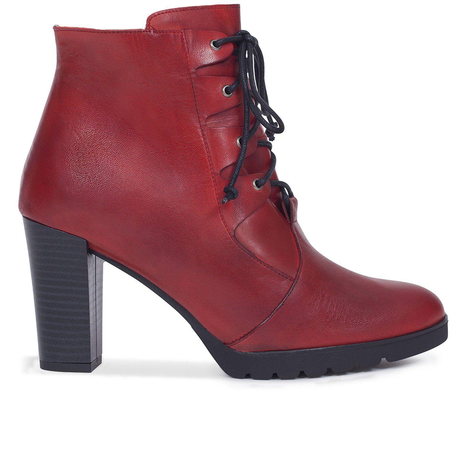 8e7096c5 Botin mujer ROJO con cordones – Zapatos miMaO Online – miMaO ShopOnline