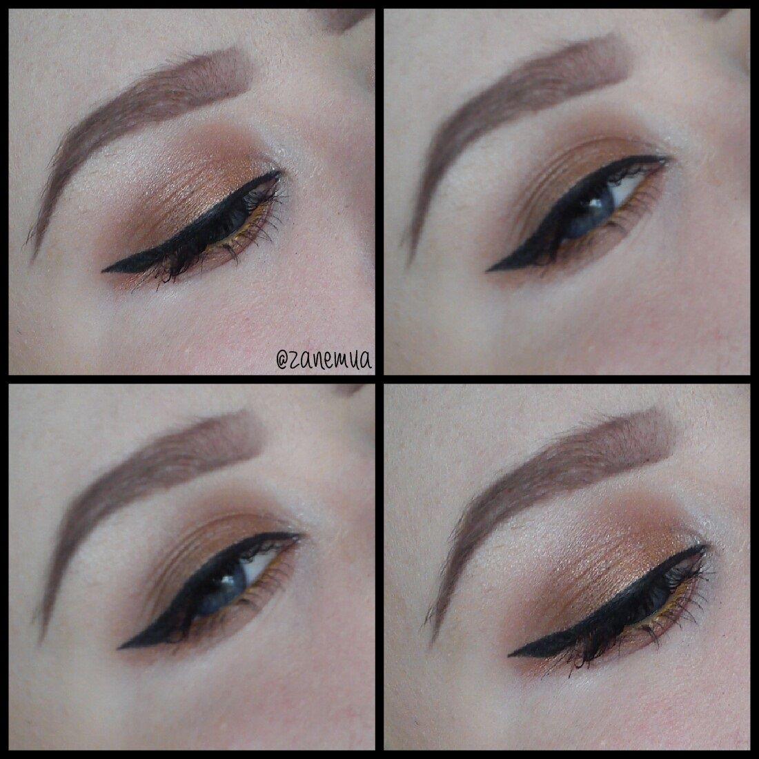 Natural makeup look I created using ELF eyeshadows