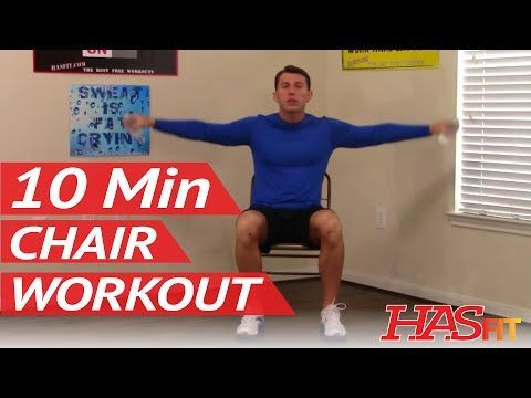10 min chair workout for seniors  hasfit seated exercise