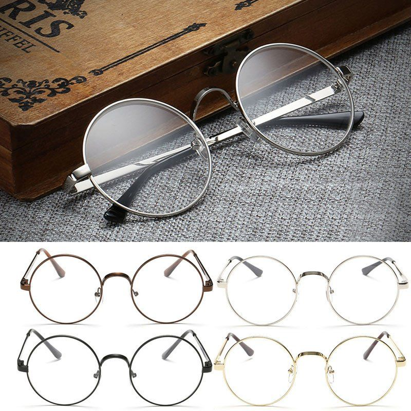 75cdd7180d Chic Eyeglasses Retro Big Round Metal Frame Clear Lens Glasses Nerd  Spectacles -Y107