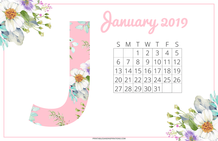 Pretty Desk Calendar 2018 And 2019 Free Printables All From