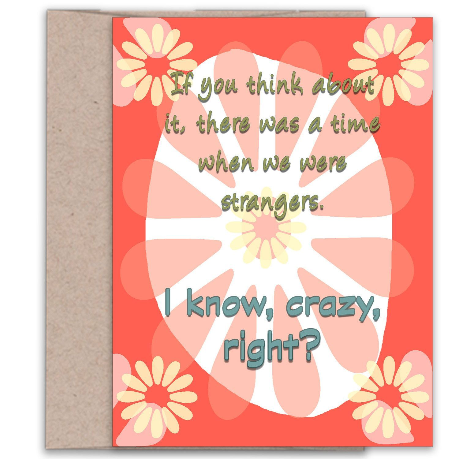 We Were Strangers Relationship Card Products Pinterest Products