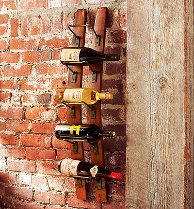 Wine rack made from oak barrel could also use old wooden - Como decorar una bodega ...