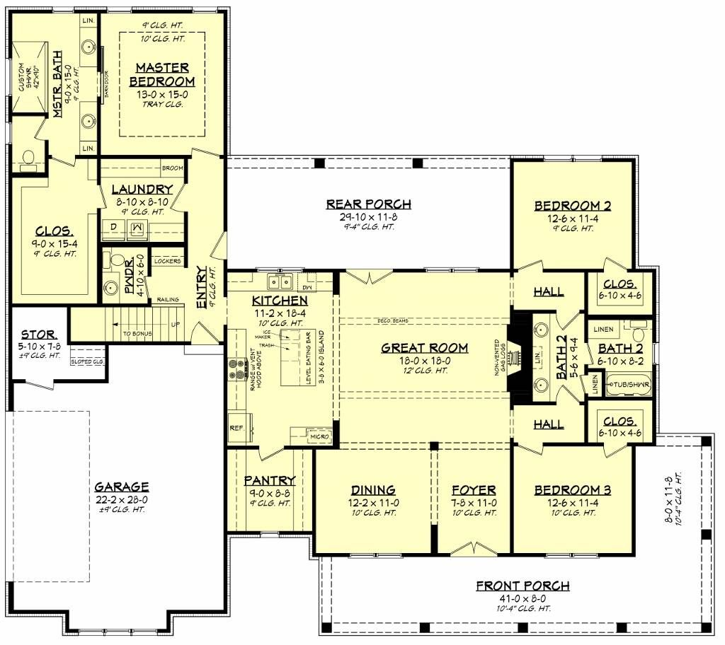 Blue Springs 2 272 Sqft 3 Bedroom Charming Farm House Style House Plan 8517 House Plans How To Plan Country House Plan