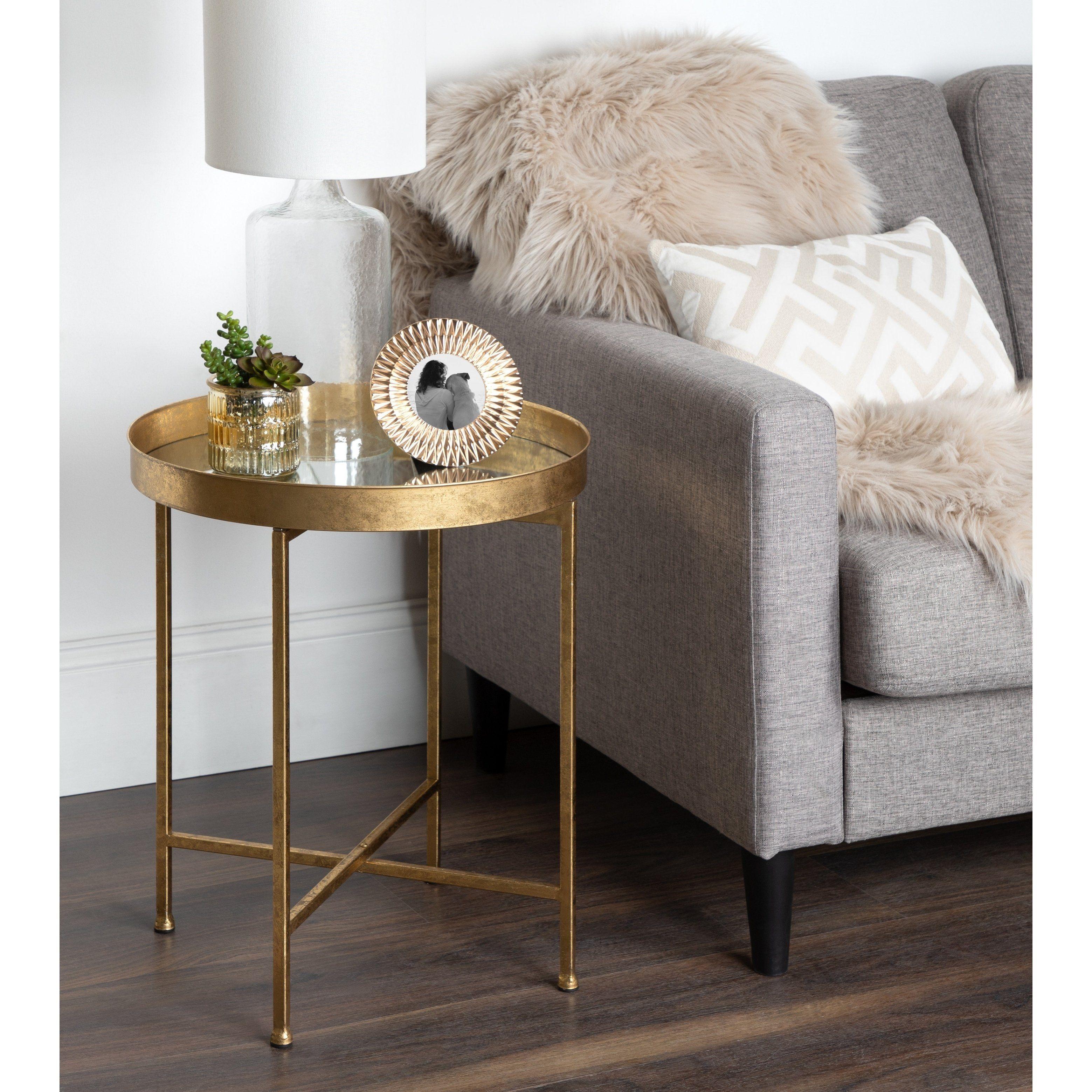 Kate And Laurel Celia Metal Round Side Table Gold Side Table Decor Round Metal Side Table Metal Side Table