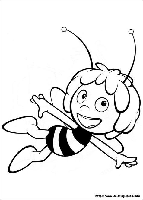 Maya Bee Printable Colouring In Bee Coloring Pages Bee Drawing Coloring Pages