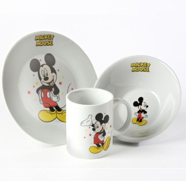 Disney Characters Ceramic Breakfast Set Bowl Plate Mug Childrens Gifts 8 Designs Mickey Kitchen Plates And Bowls Childrens Gifts