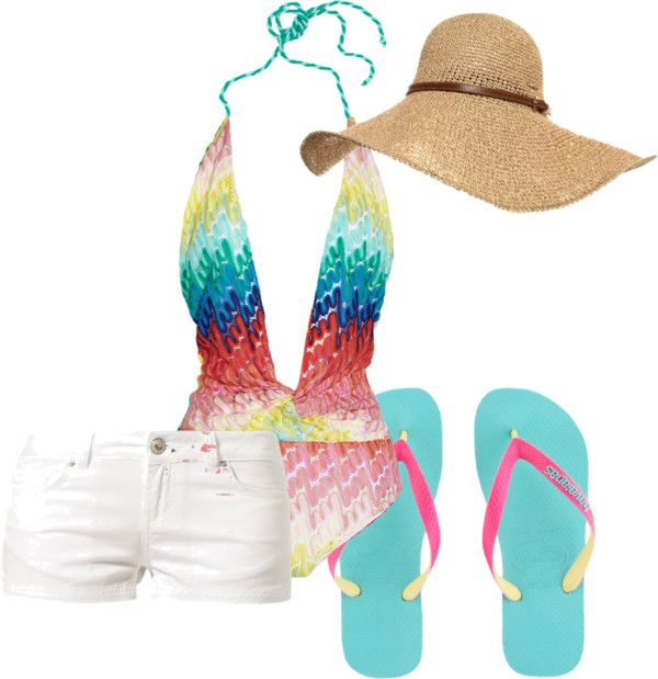 """Pool Party"" by gabriellhill on Polyvore"