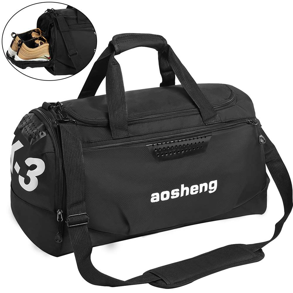 CGBOOM Gym Bag Travel Duffles Bag with Separate Shoe Compartment ... 7ac84dd2be316