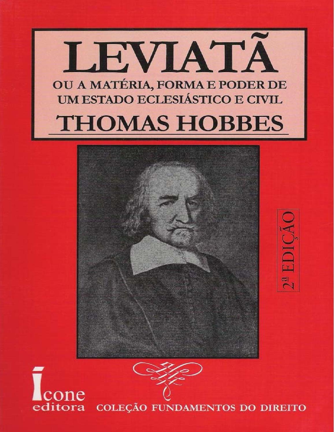 Leviata Thomas Hobbes Estudos Livros De Filosofia Amo
