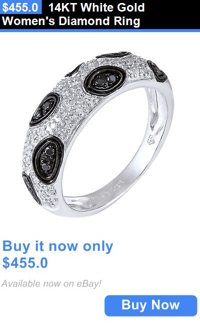 jewelry: 14Kt White Gold Womens Diamond Ring BUY IT NOW ONLY: $455.0