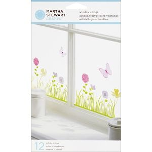 Martha Stewart Crafts™ Window/Mirror Clings.  This would look great in my craft room.