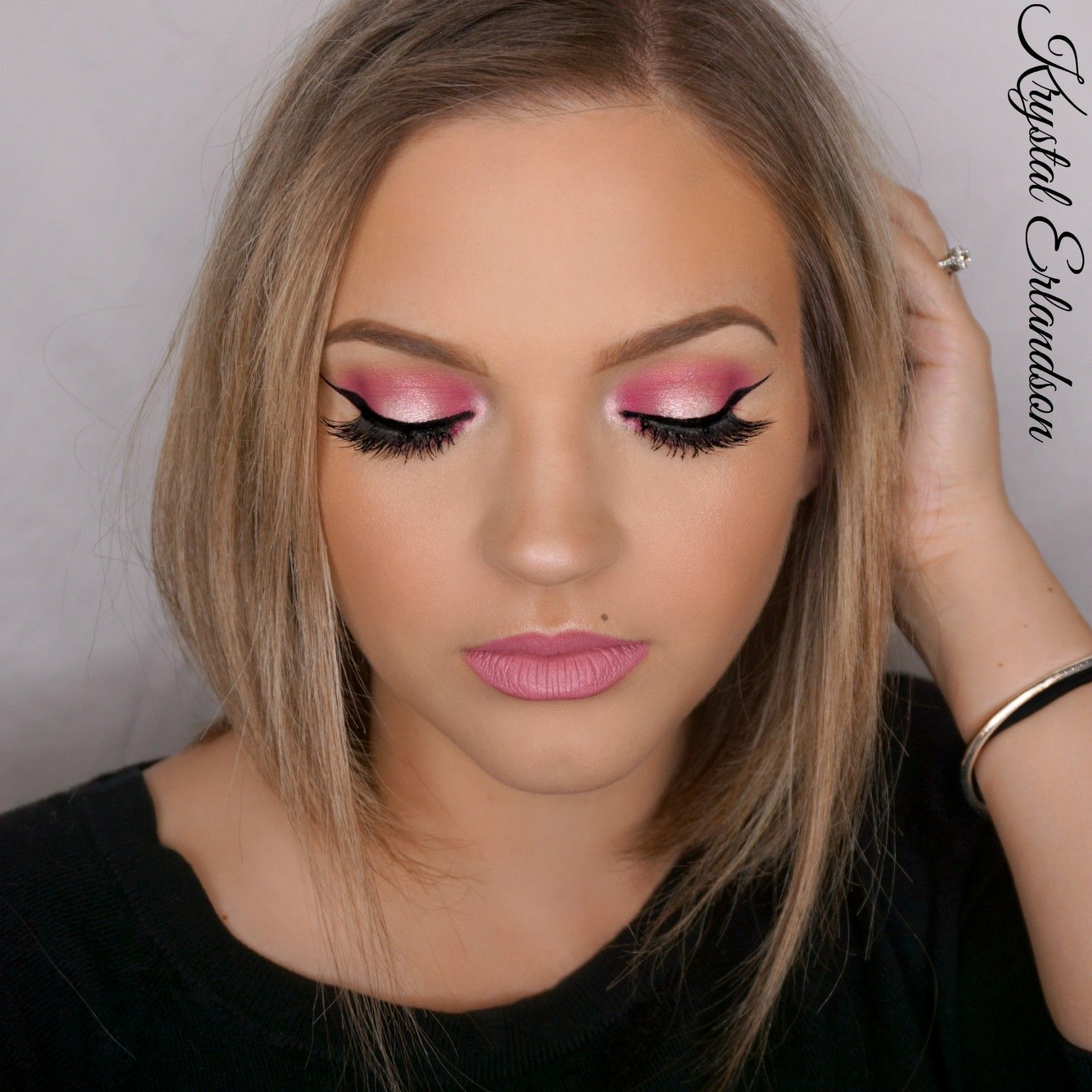 Pink smokey halo eyes makeup tutorial makeup geek krystal pink smokey halo eyes makeup tutorial makeup geek baditri Choice Image