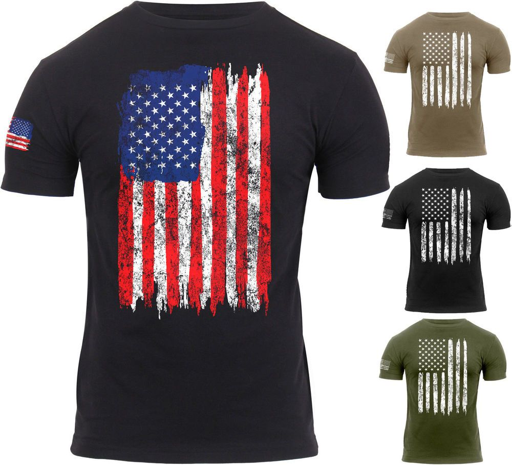 Mens US Flag Athletic T-Shirt Muscle Build Tactical Tee American Patriotic  USA  Rothco  TShirt 9dcfe0b1c03