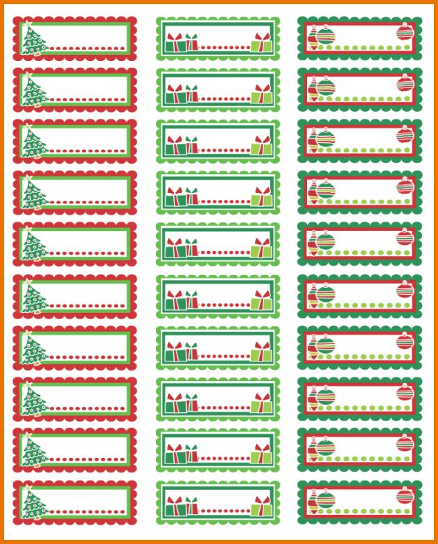Labels Christmas Return Address