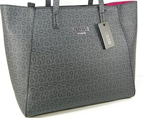 921ce4ce40 New Guess G Logo Purse Tote Large Shoulder Hand Bag Coal Charcoal Grey  Liberate