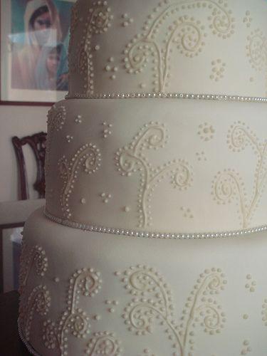 embroidered wedding cake by gelcolet, via Flickr