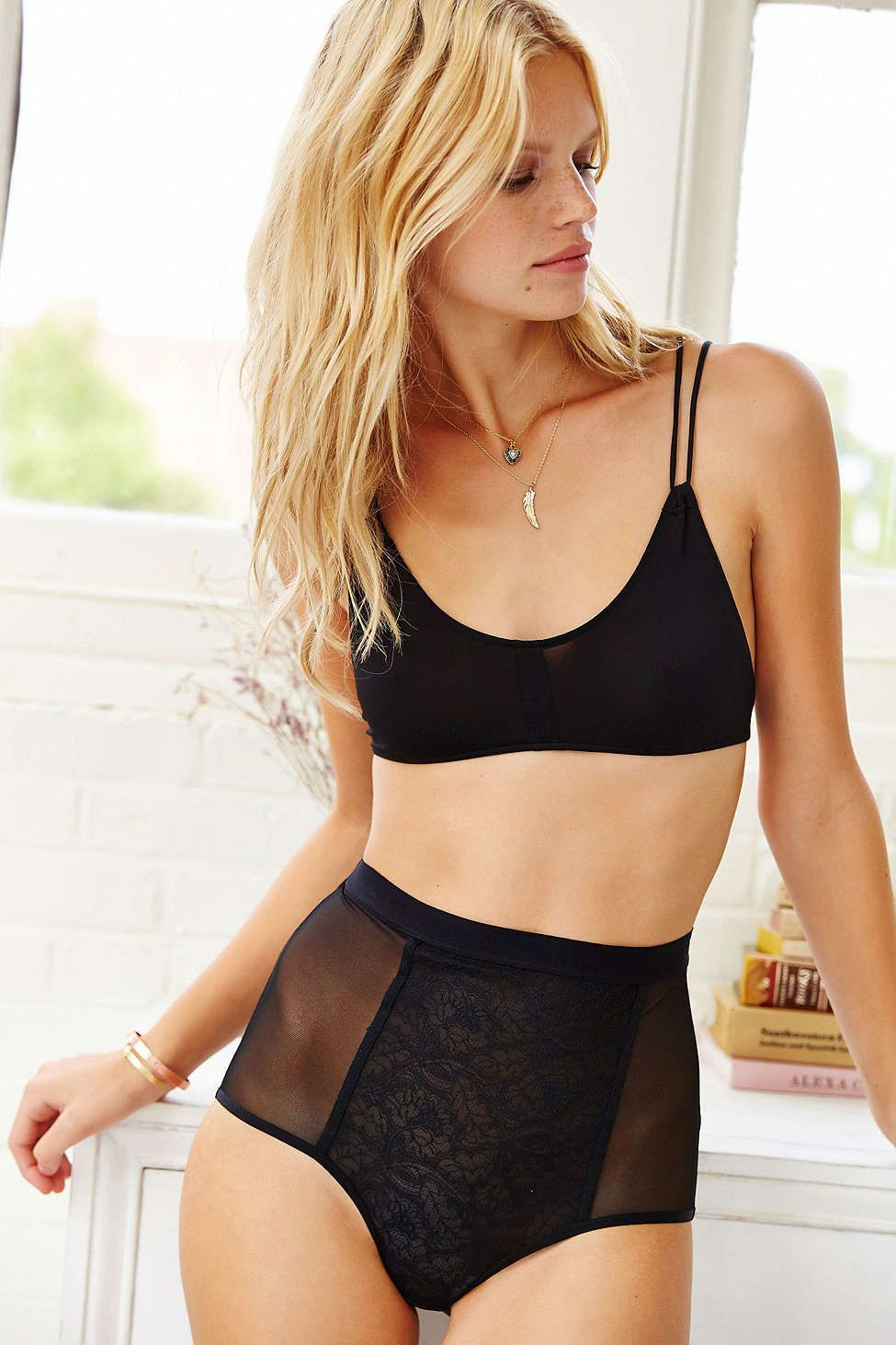 52ec8c3f8c Silence + Noise Strappy-Back Micro Bra - Urban Outfitters ...