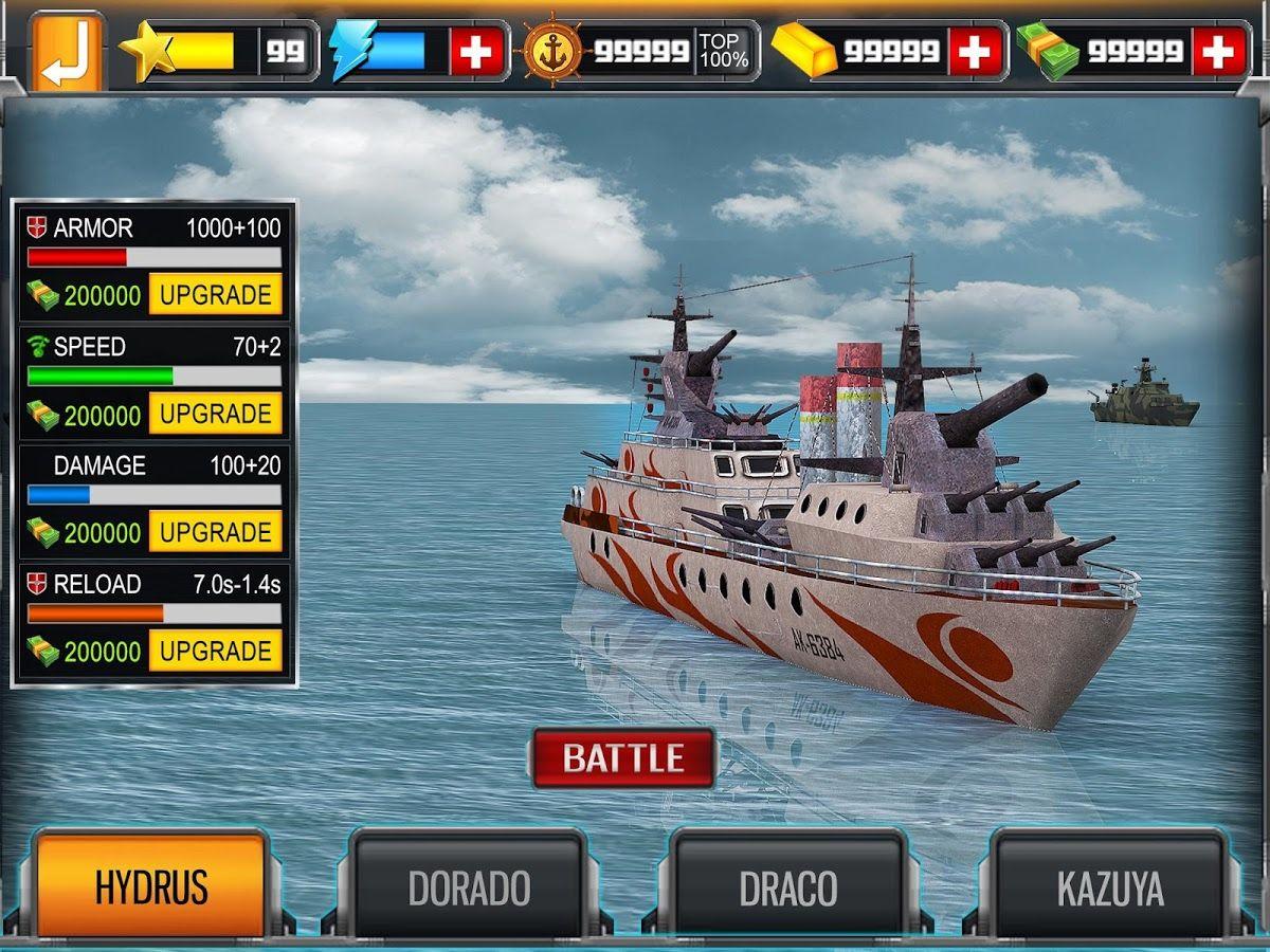 awesome Sea Battleship Combat 3D v1.1 [Mod Money] Battle