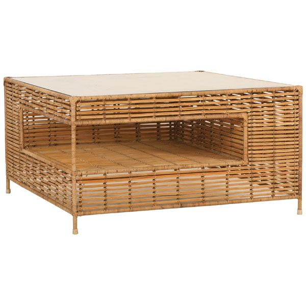 Tropix Collection coffee table in synthetic rattan by ...