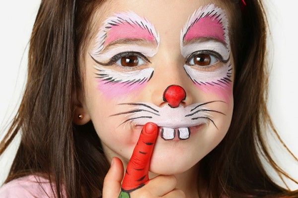 15 Creative Face Painting Ideas For Kids Bunny Face Paint Bunny Makeup Face Painting Designs