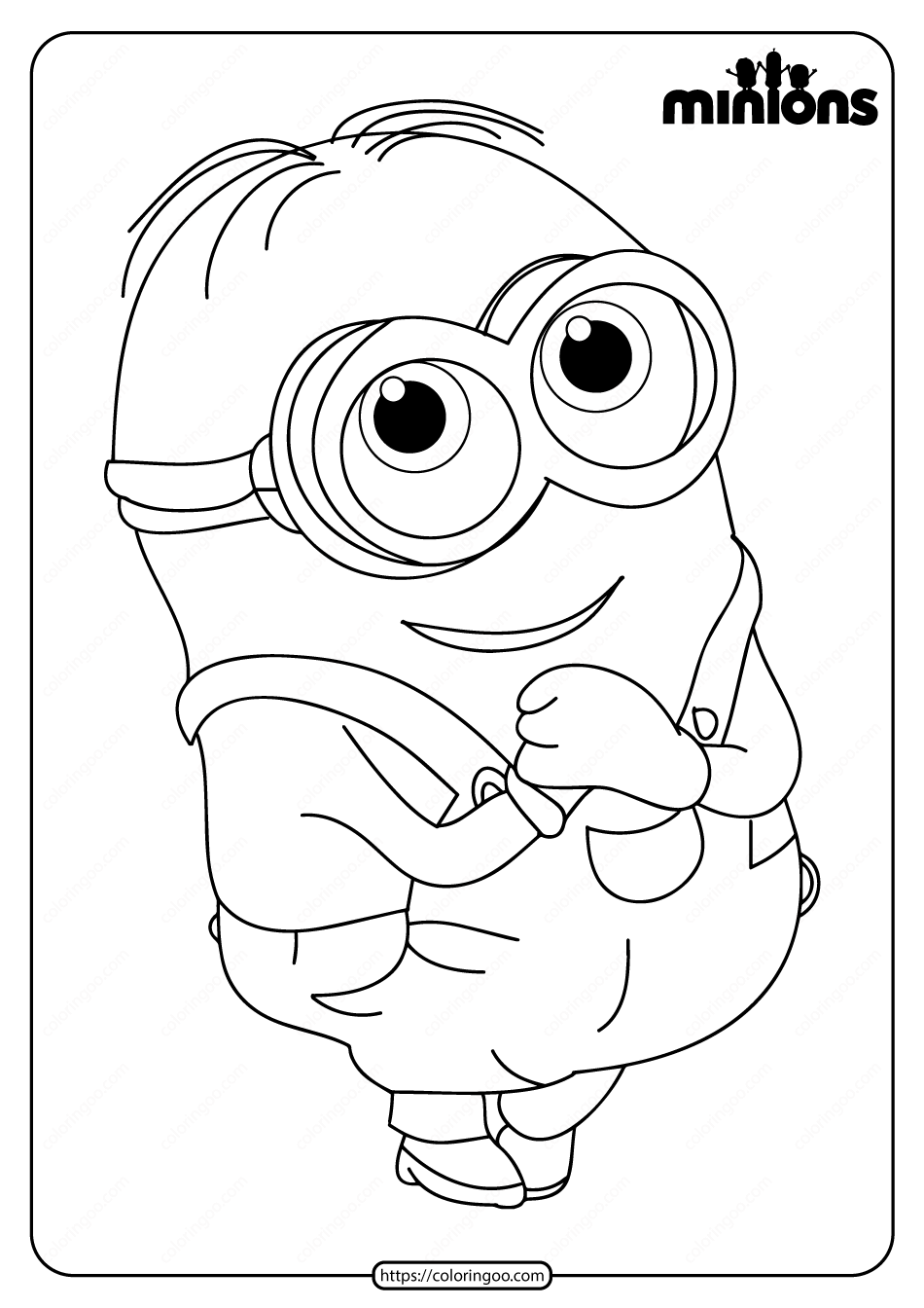 Printable Minions Pdf Coloring Page  Minion coloring pages