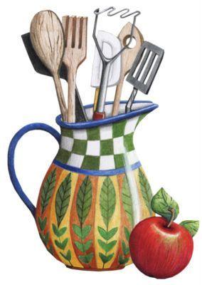 Utensilios cocina y cocineros pinterest panos de for Utensilios para cocineros