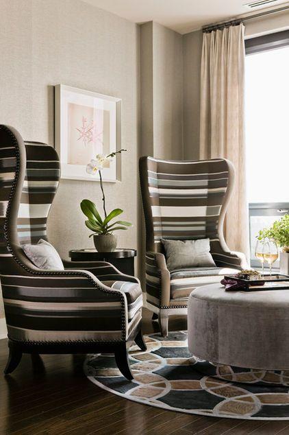 Contemporary By Terrat Elms Interior Design Corner Highback