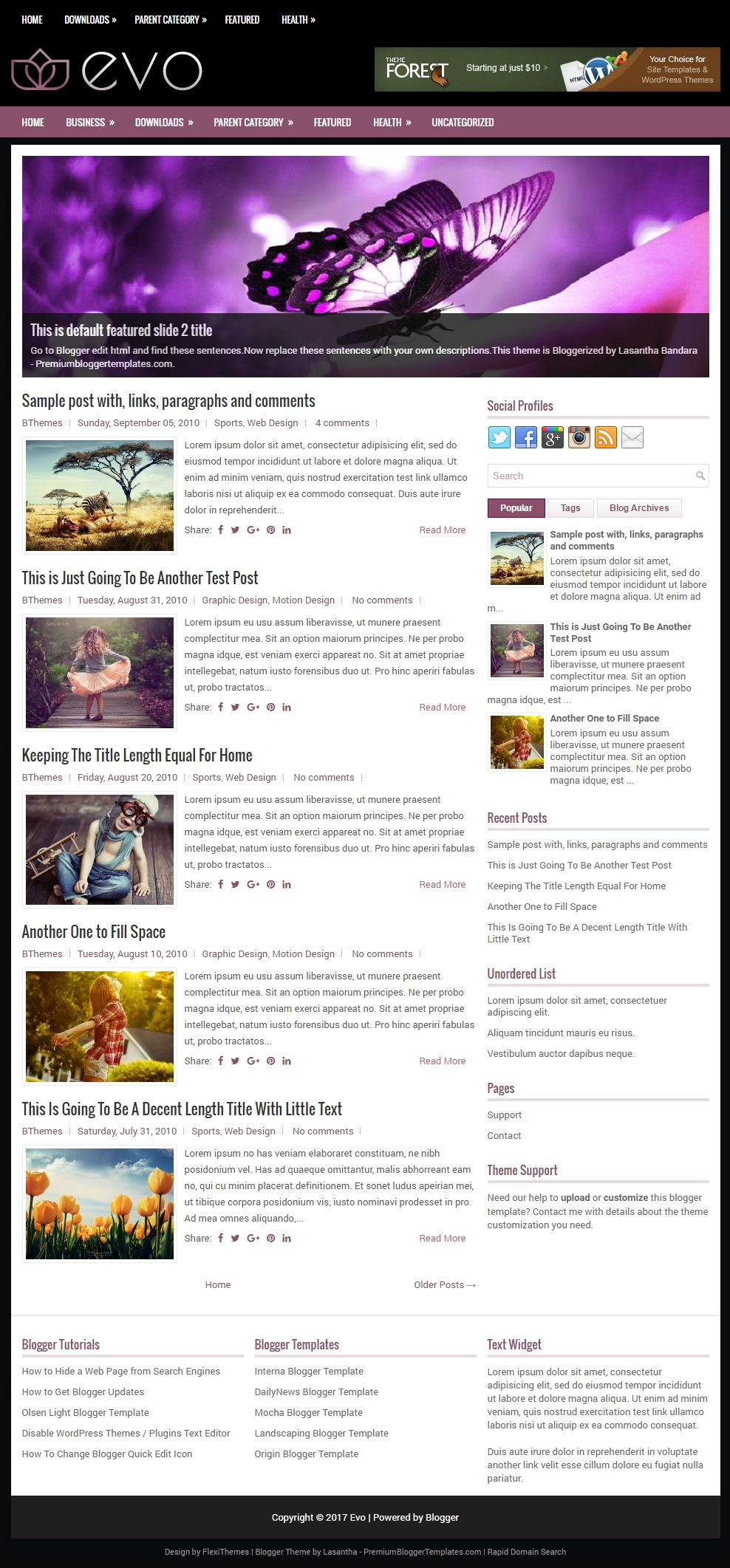 Evo Blogger Template (With images) | Blogger templates ...
