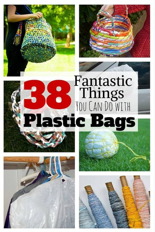 38 Fantastic Things You Can Do with Plastic Bags #recycledcrafts