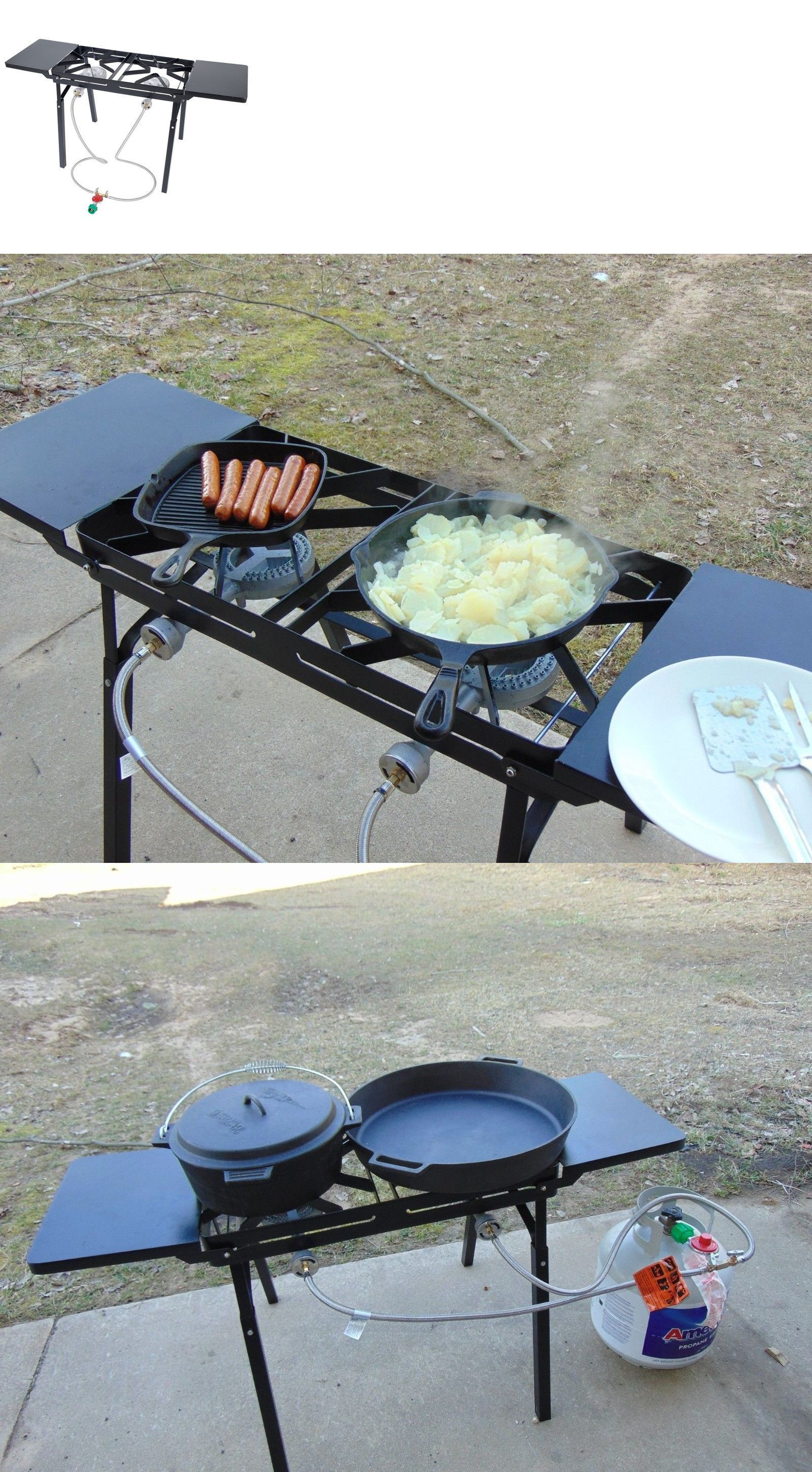 Lovely Camping BBQs And Grills 181388: Dual Burner Outdoor Patio Stove For Cooking  And Canning