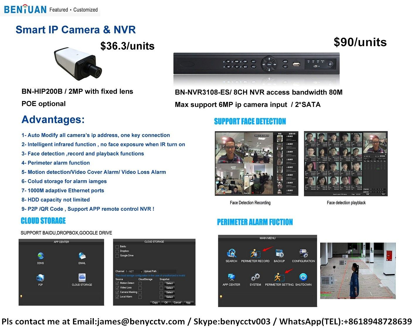 Smart IP Camera&NVR ,Face detection and recognition