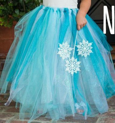 DIY no-sew Elsa (Disney-Frozen) tutu - costume / Elsa szoknya & DIY no-sew Elsa (Disney-Frozen) tutu - costume / Elsa szoknya ...