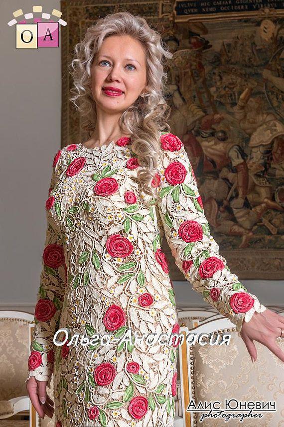 Encaje irlandés por Olga-Anastasia. vestido